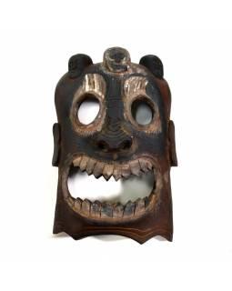 Dřevěná maska, Bhairab (Tribal art), ručně vyřezaná, 32cm