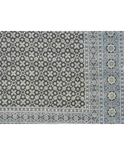 Přehoz na postel, prošívaný, blockprint, ruční práce, 225x280cm
