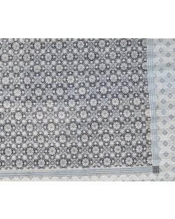 Přehoz na postel, prošívaný, blockprint, ruční práce, 275x220cm