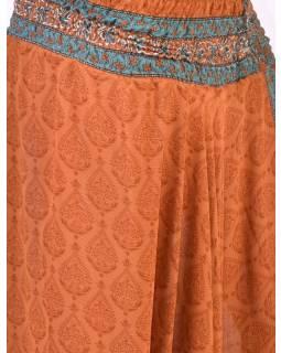 Turecké kalhoty z recyklovaných sárí, bobbin elstický pas