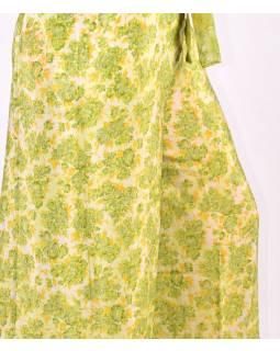 Široké kalhoty zavinovací z recyklovaných sárí, mix barev a designů