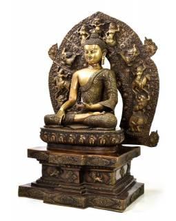 Buddha Šakjamuni, mosaz, 85cm