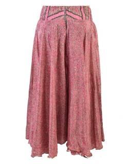 Široké kalhoty z recyklovaných sárí, mix barev a designů, bobbin