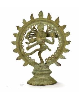 Tančící Šiva, stará mosazná soška, 14cm