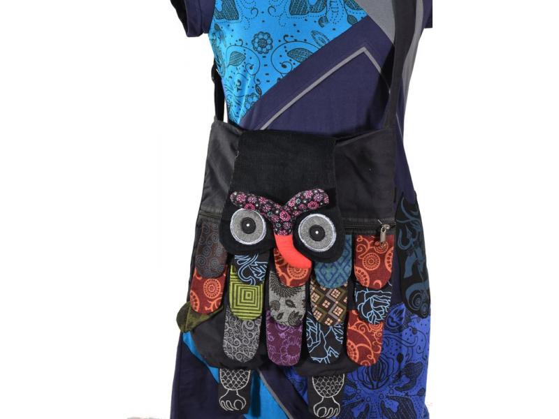 """Patchworkový bavůněný batoh """"sova"""" se zipem, 45x30 cm"""
