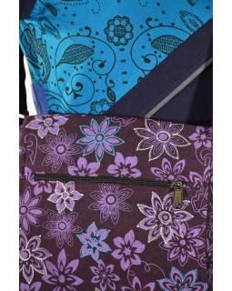 Malá bavlněná taška přes rameno, potisk, fialová, 25x25cm