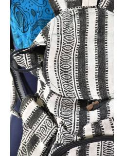Batoh, ghari, černo-bílý, stahovací, 3 kapsy, 40*40cm