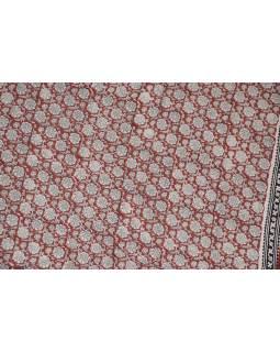 Bavlněný sárong s ručním tiskem tradičních indických motivů, 120x200cm