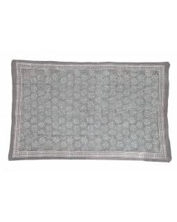 Bavlněný sárong s ručním tiskem tradičních indických motivů, 120x180cm