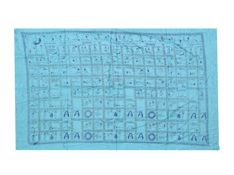 Sárong, bavlna, tyrkysový, Integral Hatha Yoga, cca 110x175cm
