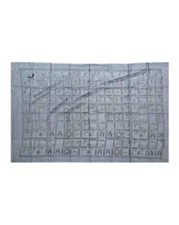 Sárong, bavlna, šedý , Integral Hatha Yoga, cca 110x175cm