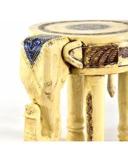 Stolička ve tvaru slona ručně malovaná, 42x31x47cm