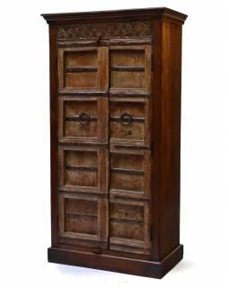 Skříň z mangového dřeva, staré teakové dveře, 92x50x177cm