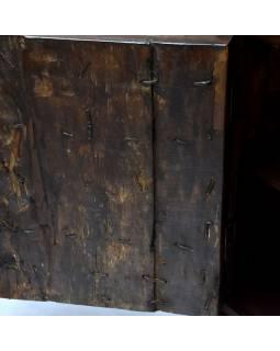 Knihovna z mangového dřeva, staré teakové dveře, 125x45x213cm