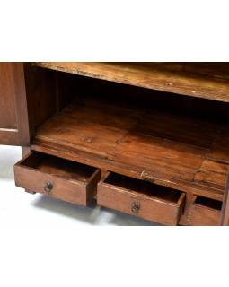 Stará komoda z teakového dřeva, 140x60x100cm