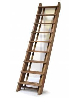 Antik schody z teaku, 65x17x278cm