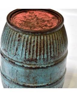 Starý kovový sud, 30x30x44cm
