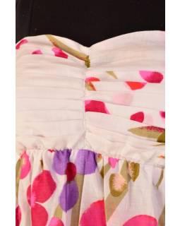 """Růžové minišaty """"Plain romantic design"""", sklady na živůtku"""