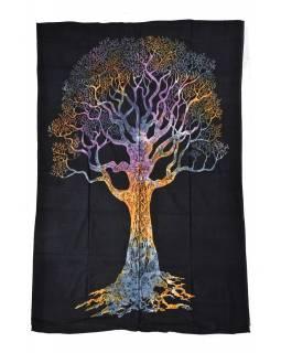 Přehoz s tiskem, strom života, 200x140cm