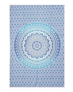 Přehoz s tiskem, mandala, 200x140cm