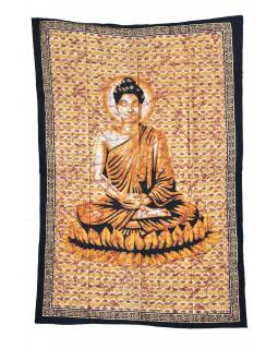 Přehoz s tiskem, Buddha, 200x140cm