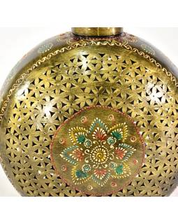 Kovová váza, ručně malovaná, 30x38x22cm