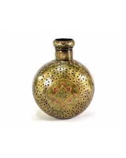 Kovová váza, ručně malovaná, 23x30x18cm