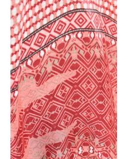 Velký šátek s motivem, červená, 180x110cm