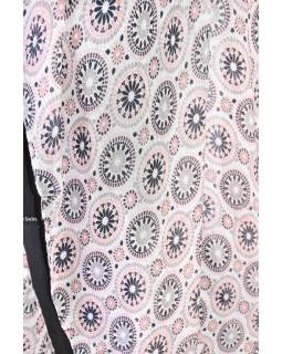 Velký šátek s motivem, růžová, 180x110cm