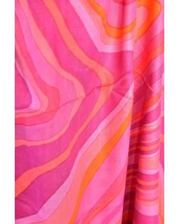 Velký šátek s motivem, růžová, 170x110cm
