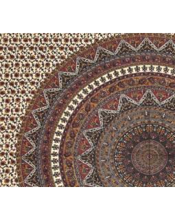Přehoz na postel, Mandala se slony, 230x200cm
