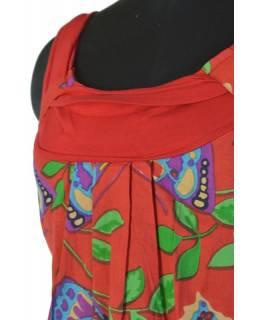 """Šaty, krátké, ,,Butterfly design"""", červené, elastická ramínka a výstřih"""