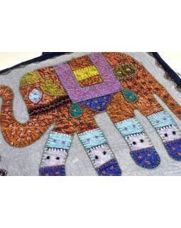 Meditační polštář, modrý, Elephant Design, čtvercový, 42x42x12cm