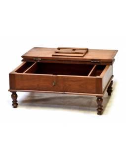 Starý kupecký otvírací stolek, 73x52x30cm