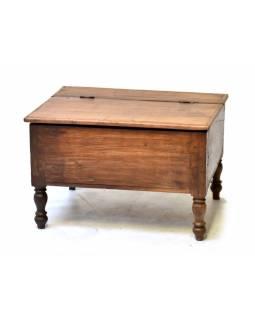Starý kupecký otvírací stolek, 63x50x40cm