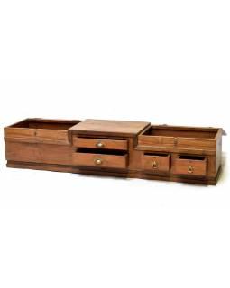 Starý kupecký otvírací stolek, 183x46x39cm