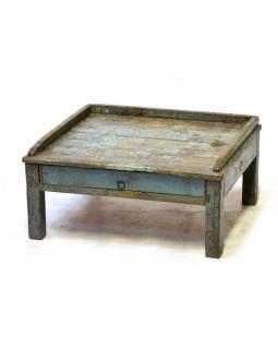 Starý kupecký stolek se šuplíkem, 61x55x29cm