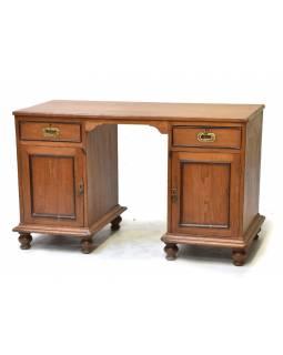 Starý psací stůl z teakového dřeva, 120x50x75cm