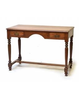 Starý psací stůl z teakového dřeva, 105x50x76cm