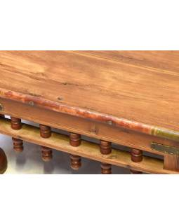 Starý čajový stolek z teakového dřeva, 60x60x30cm