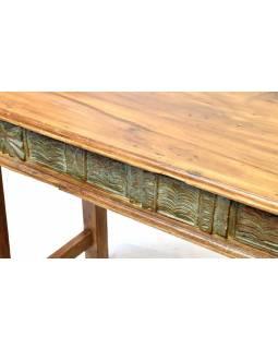 Starý psací stůl z teakového dřeva, 113x48x73cm