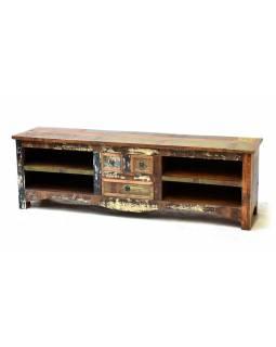 "TV komoda z teakového a mangového dřeva v ""Goa"" designu, 160x40x50cm"