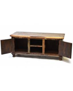 "TV komoda z teakového a mangového dřeva v ""Goa"" designu, 120x45x54cm"
