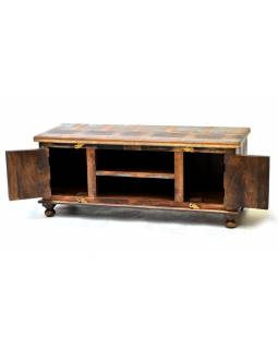 "TV komoda z teakového a mangového dřeva v ""Goa"" designu, 120x45x50cm"