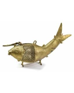 """Ryba """"tribal art"""", mosazná soška, otevírací, 25cm"""
