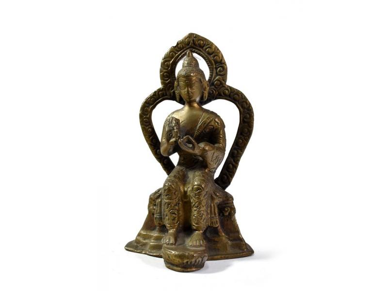 Buddha Majtreia, mosazná soška, 13cm