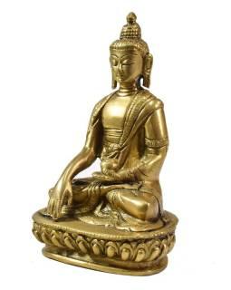 Buddha Šakjamuni, mosazná soška, 14cm