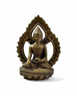 Buddha Šakjamuni, mosazná soška, 12cm