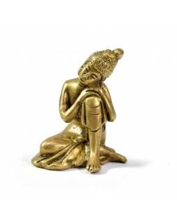 Buddha Šakjamuni jako princ Siddharta, mosazná soška, 6cm