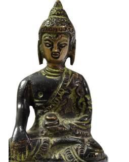 Buddha Šakjamuni, mosazná soška, 8cm